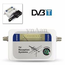Digital LCD DVB-T DVBT Finder TV Signal Strength Meter Tester BATTERY CASE Cable