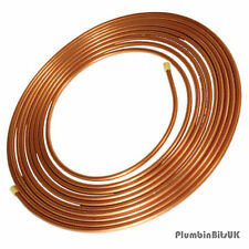 10 Metre Coil of 10mm Table W Microbore Soft Copper Tube 10M Roll TW Cu Pipe