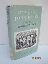 Letters of John Keats Selected by Frederick Page, a World's Classics Mini Book