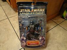 2002 HASBRO--STAR WARS UNLEASHED--JANGO & BOBA FETT FIGURE (NEW)