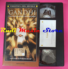 VHS film GANDHI Attenborough VIDEOTECA DEL SECOLO MONDADORI 180 min (F92) no dvd