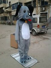Free shipping The new gray Dog adult Mascot Costume for Festival
