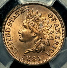 BETTER DATE PCGS MS64 RB 1885 INDIAN HEAD CENT 1c   NEARLY FULL RED !    (ODE)