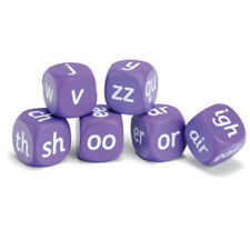 Learning Resources Letters & Sounds Phase Three Soft Foam Cubes (set of 6 dice)