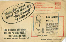 Vintage la jupe tube français à coudre motif G100 taille 44