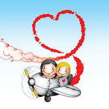 Flying High Birthday/any occas boy/girlfriend husband wife partner romantic card