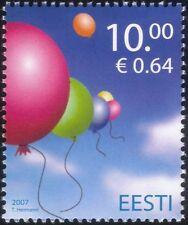 Estonia 2007 Globos/Juguetes/Children's Día/animación 1v (n26667)