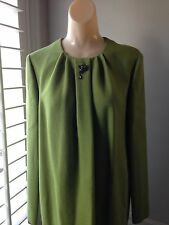 ROBERTO CAVALLI LIME GREEN LONG SLEEVE DRESS - NWT SIZE 8