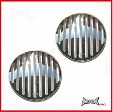 "Chrome Grill Headlight Covers - Fits Honda Civic with 7"" round driving lights"