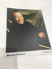 Maurice Williams Signed 8 x 10 Photo The Zodiacs Autograph