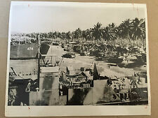 ww2 photo press American landing ships loaded for assault  on Luzon 1945  A44