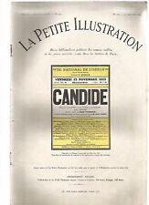 LA PETITE ILLUSTRATION N°177 - CANDIDE PIECE EN 3 ACTES DE CLEMENT VAUTEL