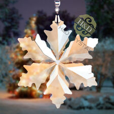 Golden Shadow Crystal Glass Little Snowflake Christmas Ornament with Gift Box