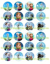 Edible Frozen Elsa Mix Wafers Cupcake Toppers- Cake Decorations set 24 *Pre cut*