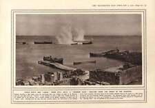 1916 Suvla Anzac turco buque de guerra bombardeo en la Angostura