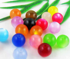 100pcs Mixed Acrylic Round Spacer Beads Findings 8mm