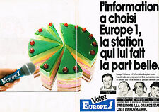 PUBLICITE ADVERTISING 034   1986   EUROPE 1 radio  J.P ELKABBACH S. PAOLI ( 2 pa