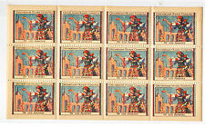 Olympics 1932 Los Angeles Czechoslovakian Poster Stamp Sheet OF 12 RARE