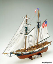 """Intricate, Authentic Wooden Model Ship Kit by Mamoli: the """"Newport"""""""