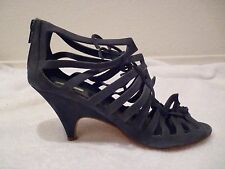 Bimba & Lola Brown Leather Heels Suede leather gray SZ 37/6.5-great condition!