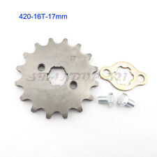 420 16 Tooth 17mm ID Front Engine Sprocket For SDG YCF Pitsterpro Pit Dirt Bikes