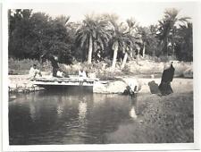 """PHOTO c.1930~""""LE PETIT PONT""""~OASIS de GABES~TUNISIE-"""