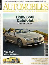 REVUE MAGAZINE AUTOMOBILES CLASSIQUES N°204 03/2011 BMW 650 PORSCHE 918 BUGATTI