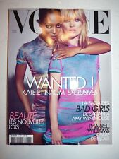 Magazine mode fashion VOGUE PARIS #884 février 2008 Kate Moss Naomi Campbell