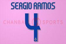 Sergio Ramos #4 2006-2007 Real Madrid Homekit Nameset Printing