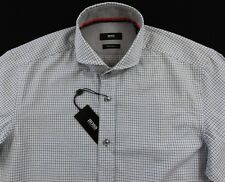 Men's HUGO BOSS White Blue Black SEAN Shirt 2XL XXL NWT NEW $145+ Regular Fit