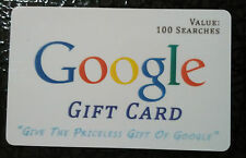 Google Gift Card - Novelty Gag Gift. Real Scratch off Panel. Great Unique Gift