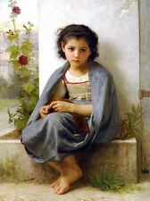 WILLIAM ADOLPHE BOUGUEREAU LITTLE KNITTER OLD MASTER ART PAINTING PRINT 3151OMA