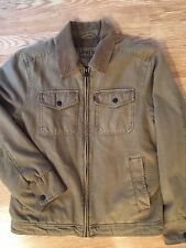 LEVIS Men's Deck Utility Jacket Coat Quilted Lining Corduroy Collar Size Small