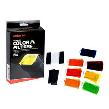 Godox 35x Flash Gun Universal 7 Colour Gel Filter Kit f Speedlite +Velcro Holder