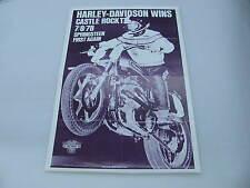 Original 1978 Harley Davidson Race Poster Castle Rock XR750 Jay Springsteen