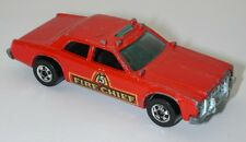 1977 Vintage Hot Wheels Red # 5 Fire Chief Car Mattel Made in Hong Kong oc11020