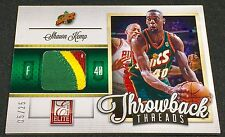 SHAWN KEMP 12-13 Panini Elite THROWBACK THREADS PRIME LOGO PATCH SP #05/25 RARE!