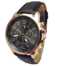 Fashion Watch Women Ladies Watch Geneva Numerals Faux Leather Analog Watch Gift