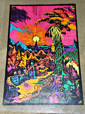 LOST HORIZONS 1969 Vintage Blacklight Poster E.A.Mattila  22x33 Pin Holes Only