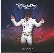 Menu Souvenir Elvis Experience Martin Fontaine as Elvis Presley - Quebec French