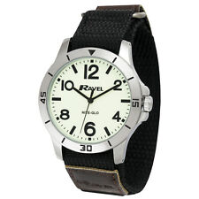 Ravel Men's Nite-Glo Watch, Large Dial, Fast Fit Strap Luminous Dial