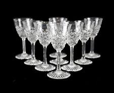 8 Baccarat France Crystal Cordial Wine Glasses in Bellinzona, Signed