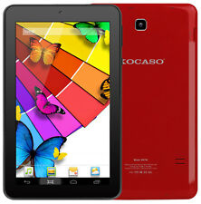 "Kocaso 7"" Inch Android 5.1 8GB Tablet Quad Core PC 1GB RAM Dual Camera (Red)"