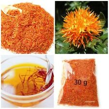 DRIED SAFFRON SAFFLOWER NATURAL THAI HERB TEA DRINK FOOD  HEALTHY 30 G