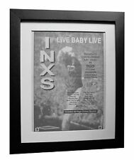 INXS+Live Baby Live+POSTER+AD+ORIGINAL 1991+TOP QUALITY FRAMED+FAST+GLOBAL SHIP