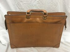 RENWICK BELTING SADDLE LEATHER BRIEFCASE Attache Lawyer Messenger Bag Canada