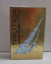 NAUTICA AQUA RUSH  GOLD COLOGNE 3.4 OZ / 100 ml EDT SPRAY FOR MEN NEW IN BOX