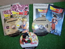3 x PLAYSTATION 2 PS2 DRAGONBALL Z BUDOKAI  1 + 2 & 3 GAMES BUNDLE