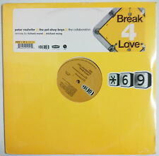 "Pet Shop Boys Break 4 Love Maxisingle 12"" USA 2001 ""Sticker"" en portada"