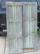 Antique Tall Narrow Cabinet Door Shutter Vintage Shabby Old Cottage Chic